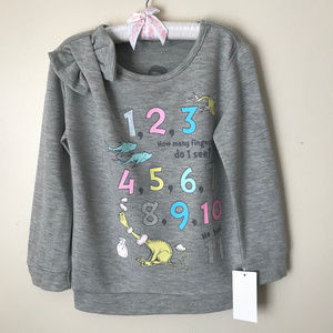 Dr Seuss Numbers Sweatshirt Pullover Girl Toddler